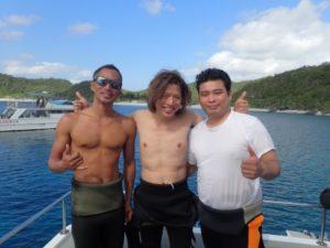 慶良間で体験ダイビング