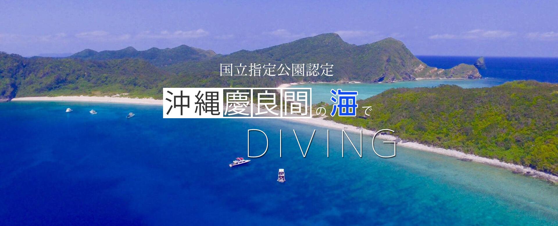 国立公園認定 沖縄慶良間の海でダイビング