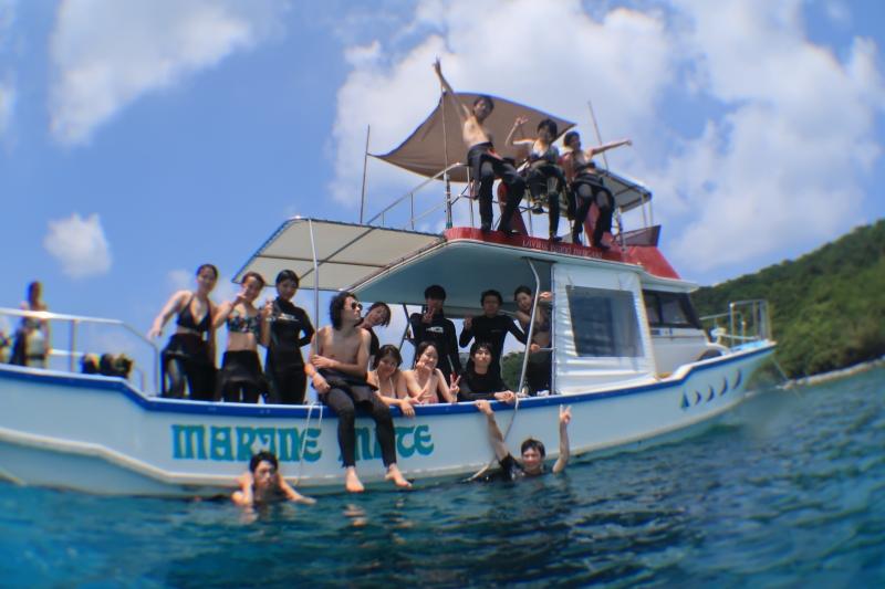 大学生ダイビングサークルの皆様と慶良間諸島へ!