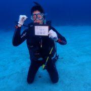 なんとかボートに乗って講習!  沖縄|ダイビング