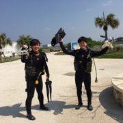 いい天気にOW講習!  沖縄|ライセンス講習