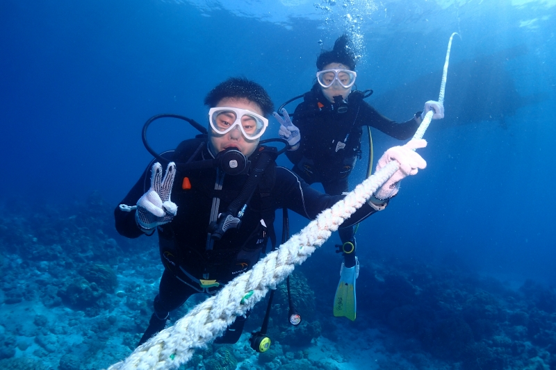 沖縄のダイバー